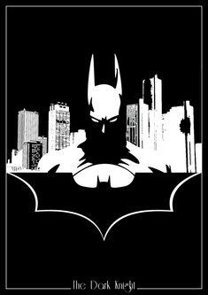 DC Comics Silhouettes: Batman by Romain Therasse #batman #illustration #design