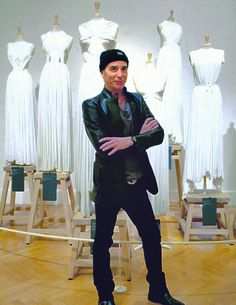 Lloyd Klein at the 2012 Paris exhibition of Madame Gres, Klein was the Head Designer for Gres 93-95.