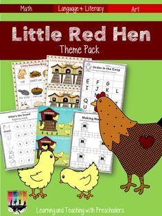 My Little Red Hen lesson plan has been updated to include many more small group activities.