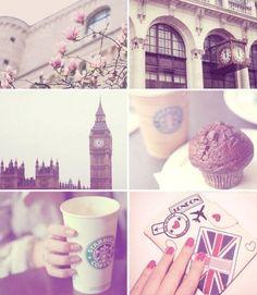 cupcak, london calling, coffee, collages, big ben, place, bigben, united kingdom, starbucks