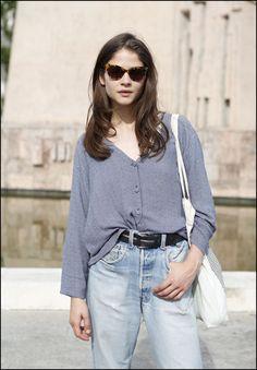 La modelo #AlbaGalocha con gafas #Davidelfin en exclusiva para Opticalia