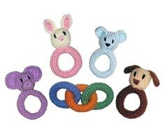 Baby Ring and Rattle Toys - PDF Crochet Pattern. $4.95, via Etsy.