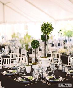 Wedding centerpiece on pinterest lantern centerpieces for Black and white tablescape ideas