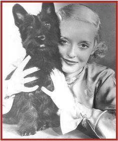 Bette Davis & her Scottie Dog MacTavish.