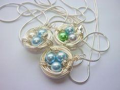 Birds Nest Necklace Personalized Mom Mother by pennysbykristie