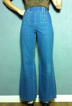 """I had a pair of these double zipper jeans back in the 70s...it was easy to catch a piece of skin in those zippers. We also called them """"drive-in"""" jeans because of the supposed ease of access. lol"""