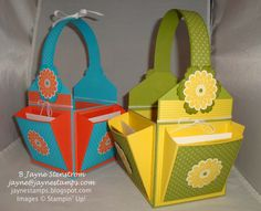 gift baskets, paper craft, card basket, craft idea, gifts, stamps, gift idea, cards, jayn stamp
