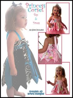 I love this pattern and easy to make. c.f.  Princess Corset, Ruffled Halter & Princess Top or Dress