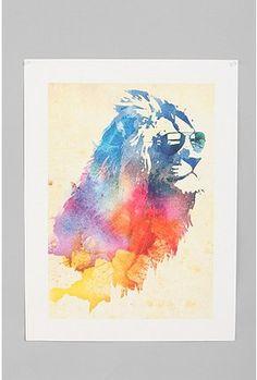 18x24 sunny leo art print by Robert Farkas, $29