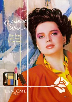 ISABELLA ROSSELLINI FOR  LANCOME PARIS ADVETIDMENT I986