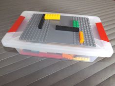 This is brilliant, complete instructions for making lego boxes to use in your math center are on this blog...