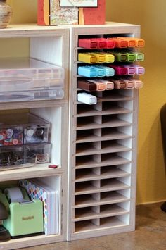 Perfect storage for Stampin' Up! Blendabilities Markers.   They're stored in groups of three, just like they're supposed to be!