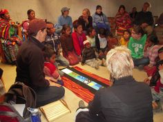 """So cool. The story of creation being told by an American storyteller in Guatemala. Trish, the storyteller said, """"...the creation story was epic, transcending all language barriers!"""" Just beautiful. So honored to be working with Trish and all the folks at DCC."""