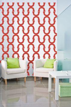 Wall Decal Geometric Mod Modern Retro Pattern by WallStarGraphics, $195.00