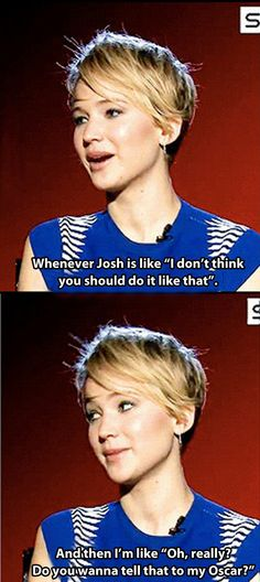 Jennifer Lawrence #JLaw #lol #funny #hilarious #pickmeup #amusing #hysterical