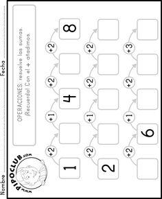 Sumas fáciles #fichas #preescolar #infantil #educación #matematicas #operaciones