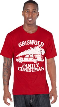 For sons who don't think Ugly Christmas Sweater morning is such a good idea -- Show your friends that you celebrated Christmas with Clark, Ellen, Audrey and Rusty Griswold in 1989 with this National Lampoon's Christmas Vacation T-Shirt.  Even Uncle Lewis would like this shirt.