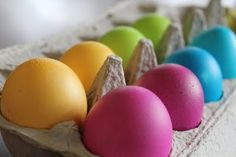 Hand Dyed Easter Eggs