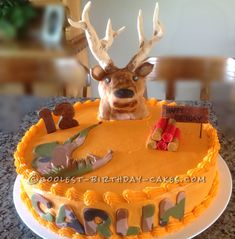 hunt cake, birthday cake