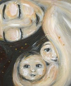 mother and child art print  Time In  archival signed by kmberggren,