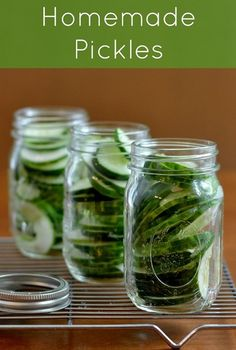 easy homemade pickles, homemad pickl, real foods, sweet pickl, easy cucumber pickles, garden, homemade pickle recipes