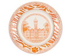 Clemson Dinner Plate featuring Tillman Hall  #Clemson #ClemsonTigers #ClemsonUniversity #Tigers #CU