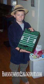 Football Field Valentine Box @Jenny Hogan