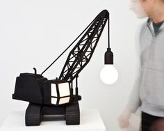 Wrecking Ball lamp by Carpenters Workshop Gallery, London
