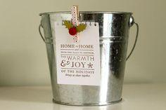 Cute mini pail for Christmas