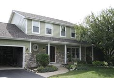 James Hardie siding with shake accents http://www.dhexteriors.com