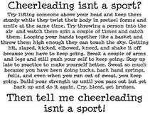 Cheerleading IS A Sport! ♡