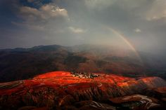 shared via nutiva.com - #Sunset #Cloud Village is one of the most picturesque places in Red Land, #China. Photo by Peng Jiang.