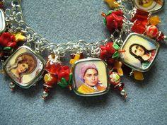 Catholic Saints charm bracelet