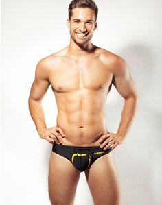Supawear - Just Supa Swim Brief - Black - www.johnnybeachbuns.com