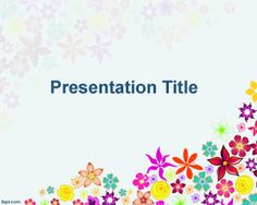 Multi color Flowers PowerPoint template, free download flowers background