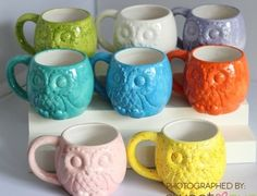 Owl mugs! I'd totally drink my coffee and hot chocolate out of these!