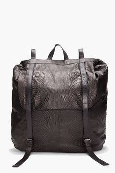 MANDY COON //  PYTHON EMBOSSED LEATHER BACKPACK