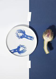 salad ink, stamp, craft, idea, porcelain, chiara andreatti, tableware, diy, salads