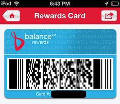 Using my Balance Card with the app on my phone. #CBias #BalanceRewards #Walgreens