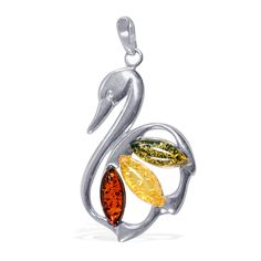 Liquidation Channel | Shades of Amber Pendant in Sterling Silver (Nickel Free)