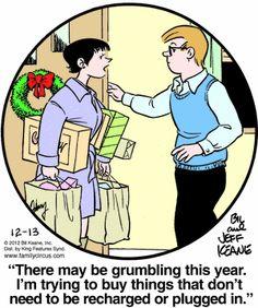 Family Circus Cartoon for Dec/13/2012