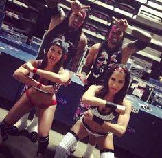 Jimmy & Jey uso & Brie & Nikki Bella