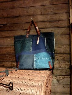 """Lovely """"jean"""" bag.  I think that I could make it.  manon 21"""