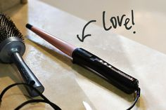 curling iron to curl hair with