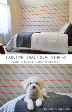 diagonal lines made with #frogtape textured surfaces via @alliebigdreamer