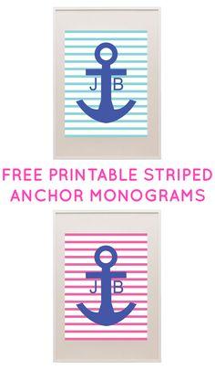 Free Printable Monogram Maker from printablemonogram.com - perfect for wall art or binder covers! #freeprintable