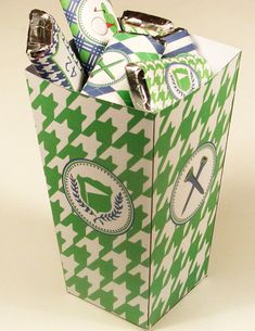 Golf Party Printable Favor Box by WhenIWasYourAge on Etsy, $4.00
