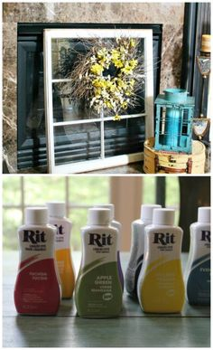 How to faux stain a window with Mod podge and Rit dye - Debbiedoo's