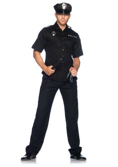 Cuff Em' Cop Police Uniform Adult Costume Ideas #adult #costumes #police #fancy #dress #halloween #adultcostumeshop