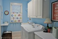 Laundry room makeover and organization
